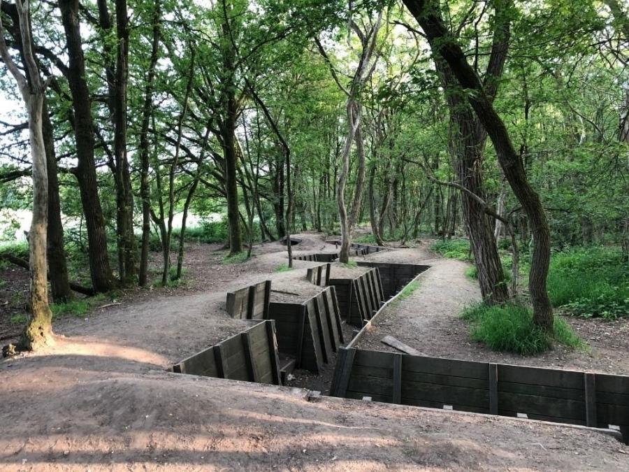 Gemarkeerde wandelroute Laarsenberg loopgraaf